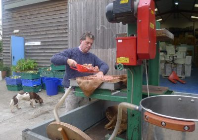 Apple pressing day at Tuell Farm